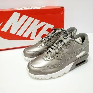 Nike Air Max 90 LTR SE GG Silver Sneakers